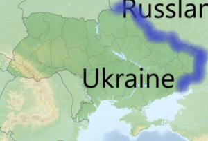 Ukraine mit der Grenze zu Russland